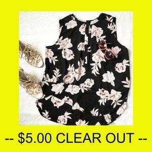 Premise Studio sleeveless floral blouse